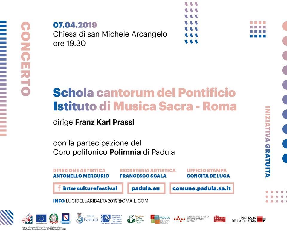 LUCI DELLA RIBALTA – Domenica 7 aprile appuntamento con la Schola Cantorum del Pontificio Istituto di Musica Sacra di Roma