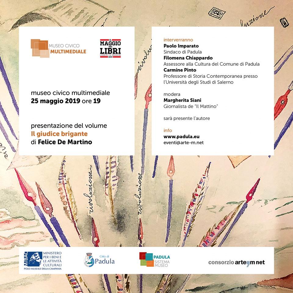 """Presentazione del libro """"Il giudice brigante"""" di Felice De Martino presso il Museo Civico Multimediale"""