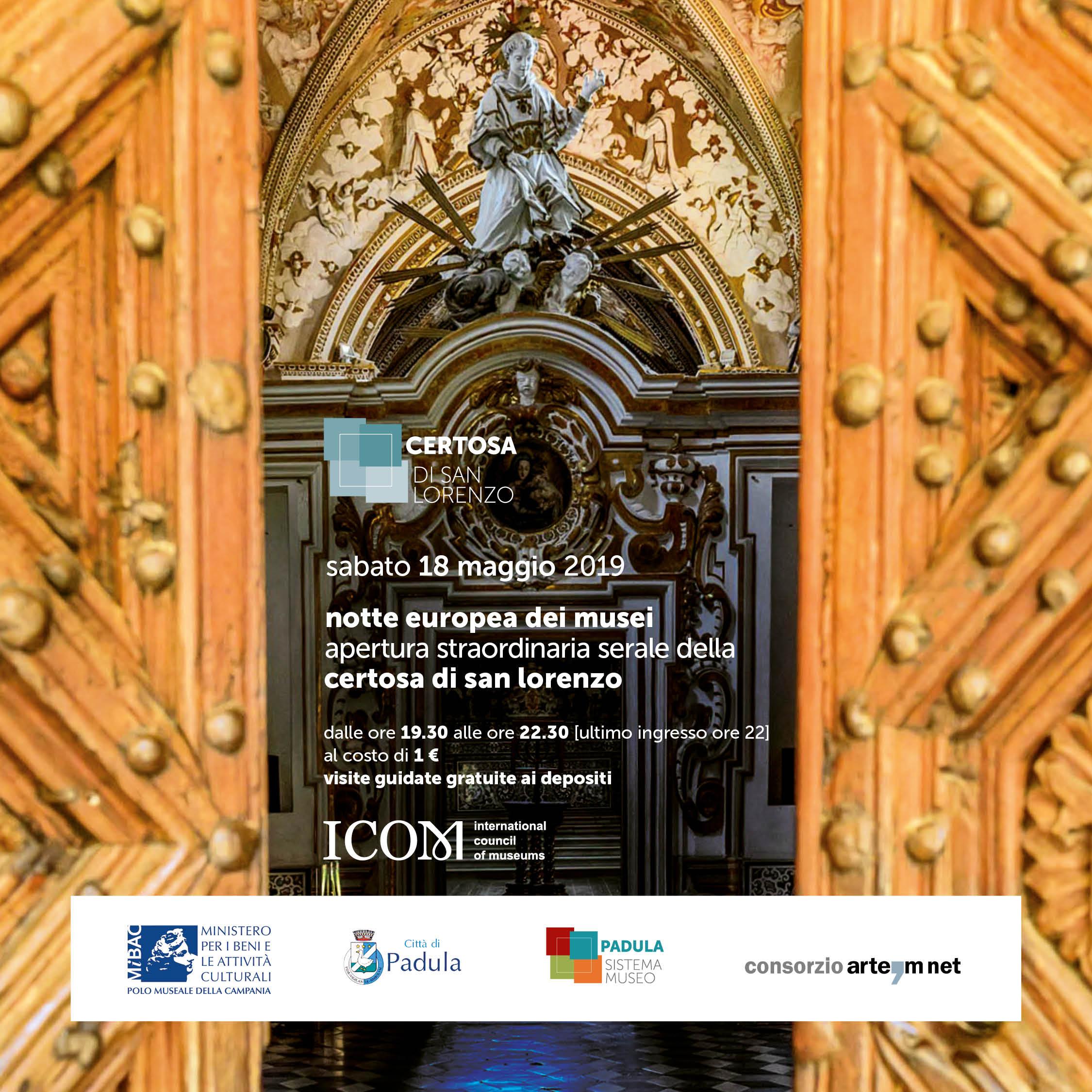 Notte Europea dei Musei alla Certosa di San Lorenzo