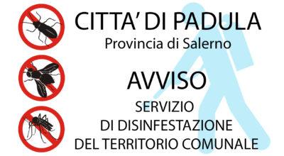AVVISO INTERVENTO DI DISINFESTAZIONE ADULTICIDA – 23 LUGLIO 2019 – ORE 23.30