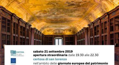 Giornate Europee del Patrimonio – Apertura al pubblico della Biblioteca monumentale della Certosa di San Lorenzo