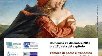 In Certosa le intense letture del Canto V dell'Inferno della Divina Commedia di Dante