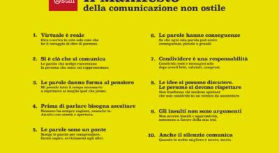 """Adesione del Comune di Padula al """"Manifesto della comunicazione non ostile"""""""