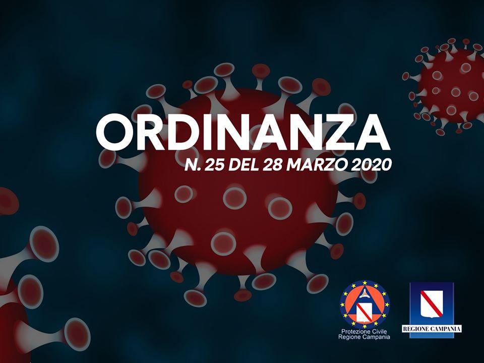ULTERIORI MISURE PER LA PREVENZIONE E GESTIONE DELL'EMERGENZA COVID-19. ORDINANZA REGIONALE N.25 DEL 28.03.2020