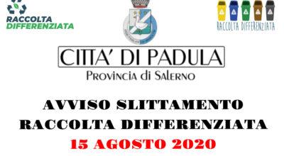 AVVISO ALLA CITTADINANZA – Conferimento rifiuti 15 agosto 2020 – Ferragosto
