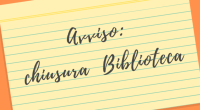 """COVID-19 – SOSPENSIONE DEL SERVIZIO DI APERTURA AL PUBBLICO DELLA BIBLIOTECA COMUNALE """"R.ROMANO"""""""