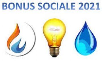 AVVISO BONUS SOCIALI (LUCE, GAS, ACQUA)- NOVITA' ANNO 2021