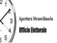 ORARI APERTURA AL PUBBLICO UFFICIO ELETTORALE